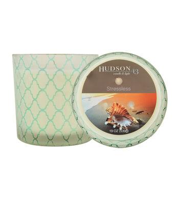Hudson 43™ Candle & Light Collection 19oz Patterned Jar Stressless