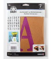 FolkArt® Alphabet & Monogram Paper Stencils - Serif Font, 7 inch, , hi-res