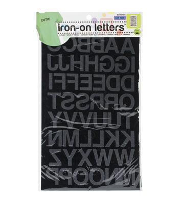 Dritz Soft Flock Iron-On Letters 1'' Block