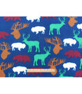 Blizzard Fleece Fabric 59\u0022-Wilderness Allover Print