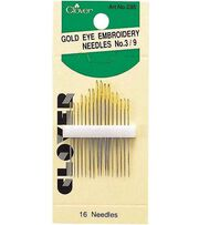 Clover® Gold Eye Embroidery Needle, , hi-res