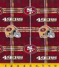 San Francisco 49ers Flannel Fabric 42\u0022-Plaid