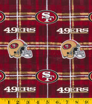 "San Francisco 49ers Flannel Fabric 42""-Plaid, , hi-res"