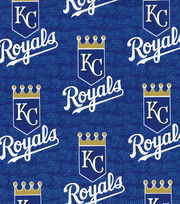"Kansas City Royals Cotton Fabric 58""-Logo, , hi-res"