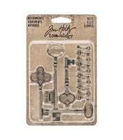 Tim Holtz® Idea-ology® Pack of 14 Adornment Keys, , hi-res