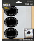 Chalk it Now - Medium Glassine Bags and Chalkboard Labels