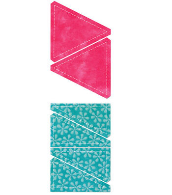 AccuQuilt Go! Fabric Cutting Die Triangles In Square
