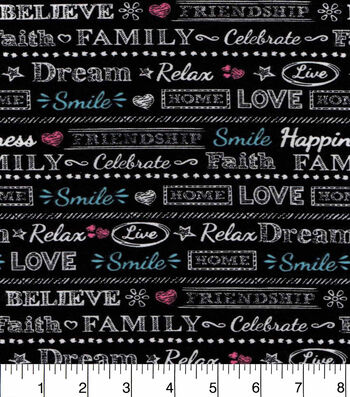 "Snuggle Flannel Fabric 42""-Believe Dream Love"