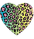 Plaid® Fashion Fabric Iron-On Transfers - Leopard Heart