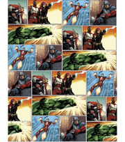 Marvel Comics™ Avengers Cotton Fabric 43''-Panel Art, , hi-res