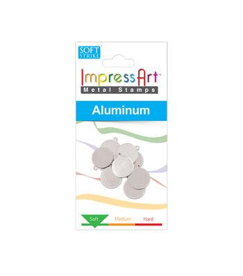 "ImpressArt's Circle Tag w/Ring, Soft Strike Aluminum, 1/2"", 10 Pcs."