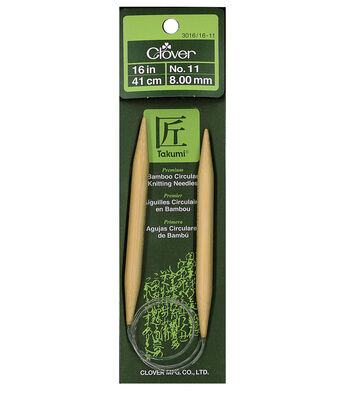 "Clover Bamboo 16"" Circular Knitting Needle-Size 11"