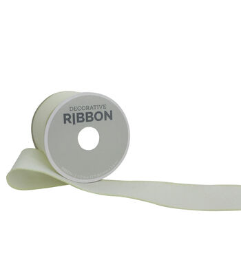 "Decorative Ribbon 2.5"" Solid Linen Ribbon-Ivory"