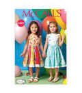 McCall\u0027s Pattern- M7145-CDD Children\u0027s & Girls\u0027 Dresses-2-3-4-5