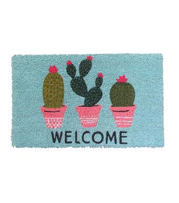 Hello Spring Gardening Coir Mat-Cactus & Welcome