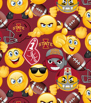Iowa State University Cyclones Cotton Fabric 43''-Emoji, , hi-res