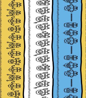 "Minion Cotton Fabric 44""-Linework"