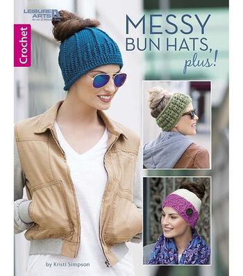 Messy Bun Hats, Plus! Book