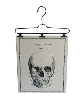 Maker's Halloween Wire Hanger Wall Decor-Skull