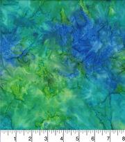 """Legacy Studio Batik Cotton Fabric 44""""-Tonal Blue Green, , hi-res"""