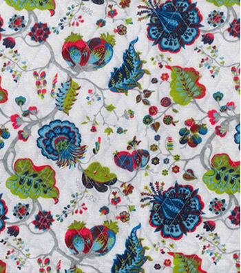 Double Faced Pre-Quilted Cotton Fabric 42''-Jacobean Floral