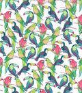 Novelty Cotton Fabric 43\u0022-Bright Tropical Birds