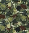 Novelty Cotton Fabric 44\u0027\u0027-Camo Dinos