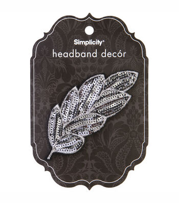 Headband Accent Leaves Sequinuin 2
