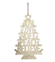 Fab Lab™ Christmas Wood Words Tree Wall Hanging, , hi-res