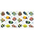 Home Decor Fish Wall Stickers, 24 Piece Set