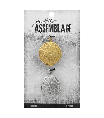 Tim Holtz® Assemblage Pack of 2 Round & Oval Lockets