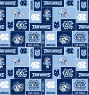 University of North Carolina Tarheels Fleece Fabric 58''-Block, , hi-res