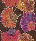 Waverly Lightweight Decor Fabric-Disco Kimono Fans/Rose Hip