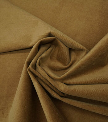 "Sportswear Stretch Corduroy Fabric 55""-Tan"