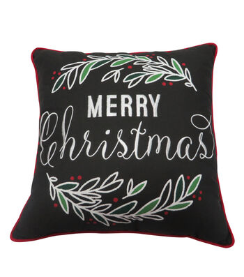 Maker's Holiday Christmas Pillow with LED-Merry Christmas