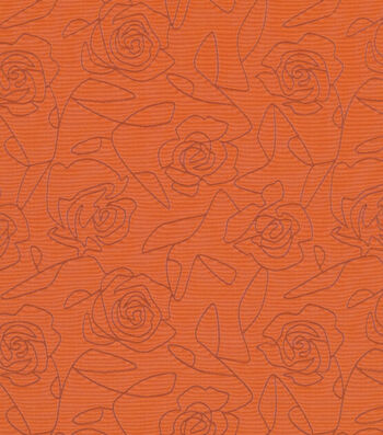 "Crypton Upholstery Fabric 54""-Bed Of Roses-Orange"