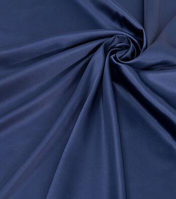 """Silky Solid Stretch Fabric 58""""-Dark Blue"""