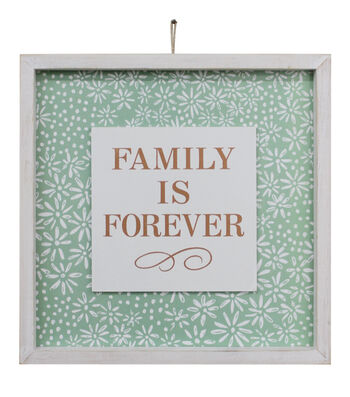 Wild Blooms Wall Decor-Family is Forever Fern