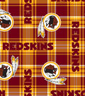 Washington Redskins Fleece Fabric 58\u0022-Plaid