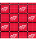 Detroit Red Wings Flannel Fabric 44\u0022-Plaid