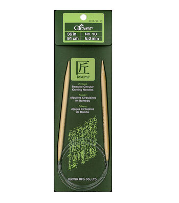 "Takumi Bamboo Circular Knitting Needles 36""-Size 10/6mm"