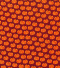 Holiday Showcase™ Harvest Cotton Fabric 43\u0022-Orange Pumpkins