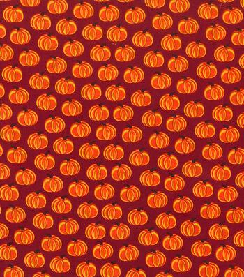"Holiday Showcase™ Harvest Cotton Fabric 43""-Orange Pumpkins"