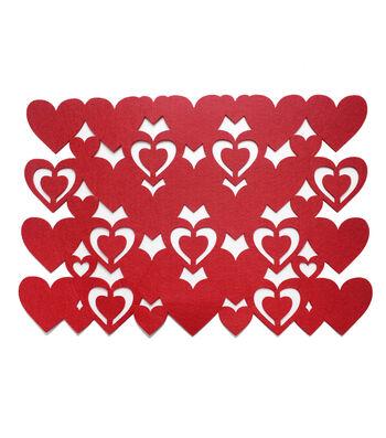 Valentine's Day Heart Felt Placemat
