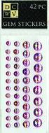 DCWV Iridescent Gem Stickers-Pink Assortment