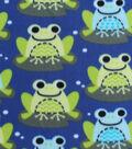 3 Yard Pre-Cut Blizzard Fleece Fabric 59\u0022-Lilly Pad Frogs