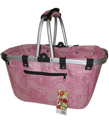 JanetBasket Rosy Large Aluminum Frame Bag