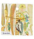 Vintage Carded Jewelry Leaf With Stone Bracelet