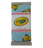 Crayola® Fabric 1yd Cut-Main Print Aqua, , hi-res