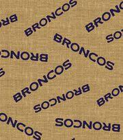 """Denver Broncos Burlap Fabric 47""""-Logo, , hi-res"""